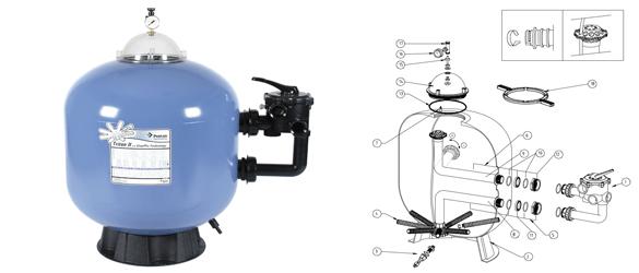 Filtro de arena Pentair Tritón II clearpro technology